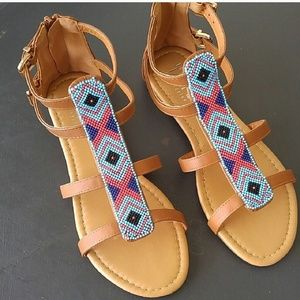 Shoes - 6, 6.5 Beaded sandals